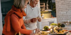 Senior Couple Cooking Dinner